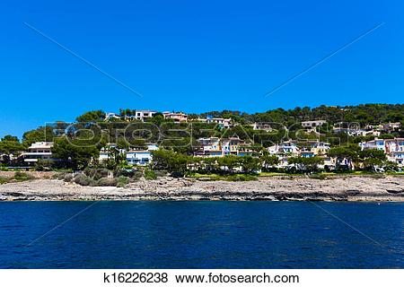Pictures of View of Mallorca coast, balearic islands, Spain.