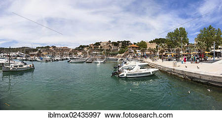 "Picture of ""Promenade with typical fishing boats, Port de Soller."