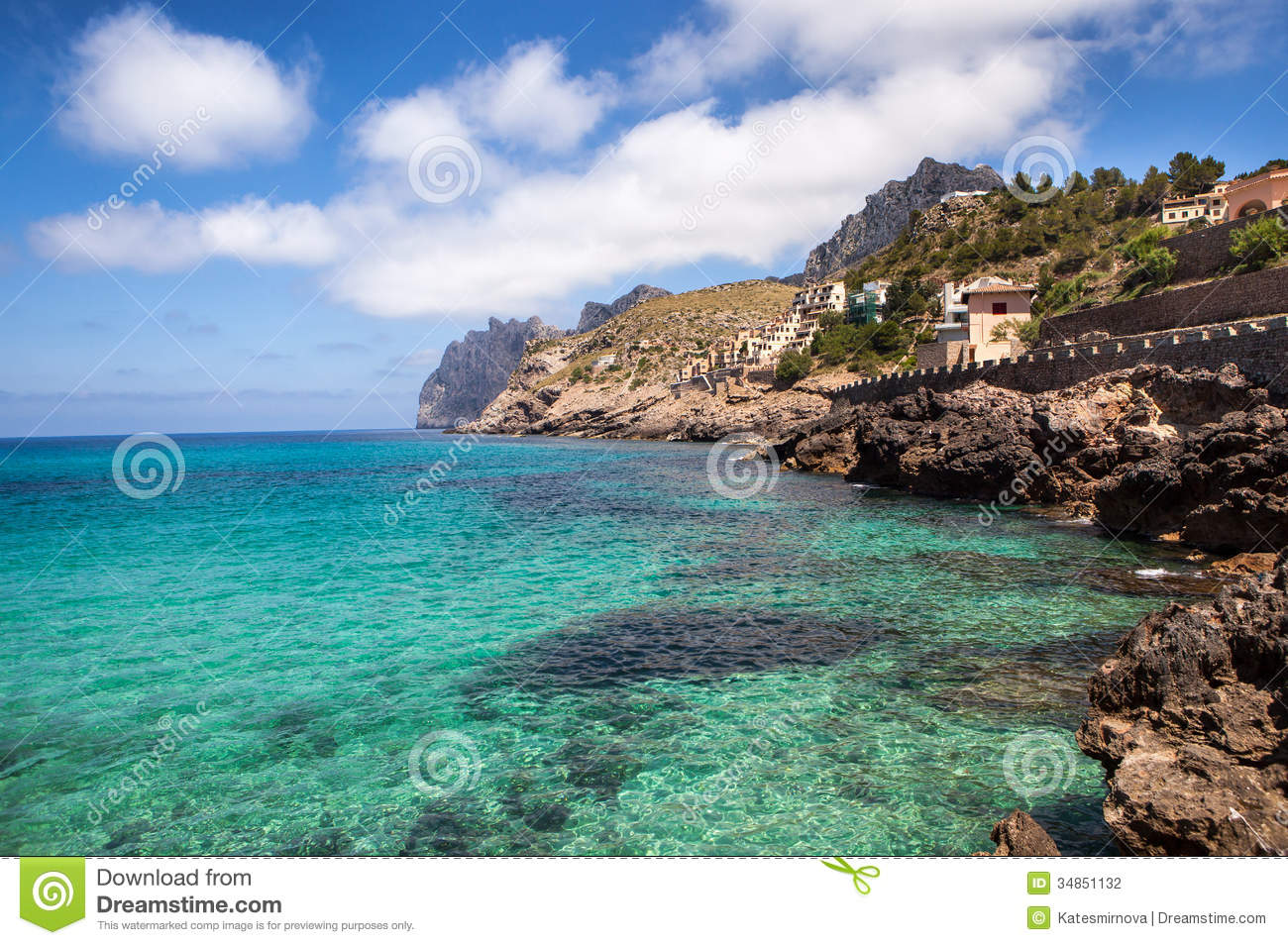 Blue Lagoon Coast Mallorca Stock Photos, Images, & Pictures.