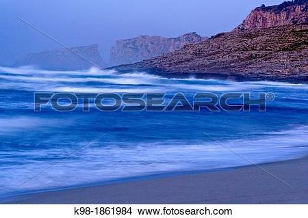 Stock Photo of Nature reserve Cap des Freu from Cala Mesquida.