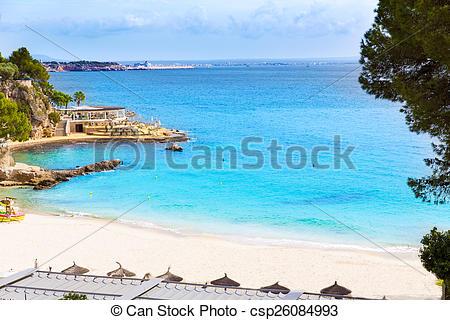 Stock Photographs of Majorca Playa de Illetas beach Mallorca.