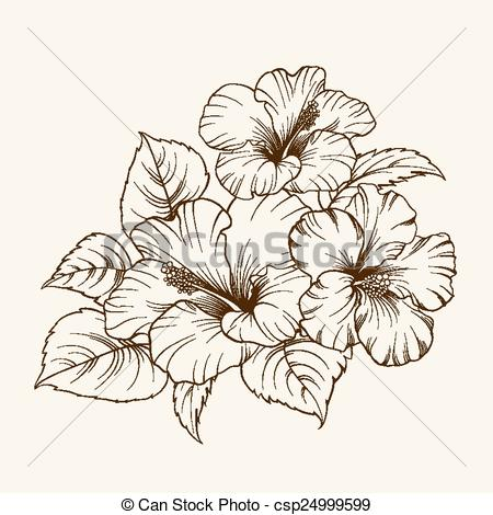 Vector Clipart of Flower of mallow..