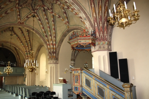 KYRKOKARTAN.SE » Lilla Malma kyrka » År 1897 tillkom målningarna i.