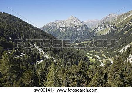 Picture of Europe, Switzerland, Grisons, Alps, Upper Engadin, View.