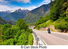 Bilder von Motorradfahrer, maloja, reiten, Passierschein.