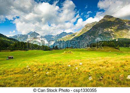 Stock Images of Scenic view at Maloja.