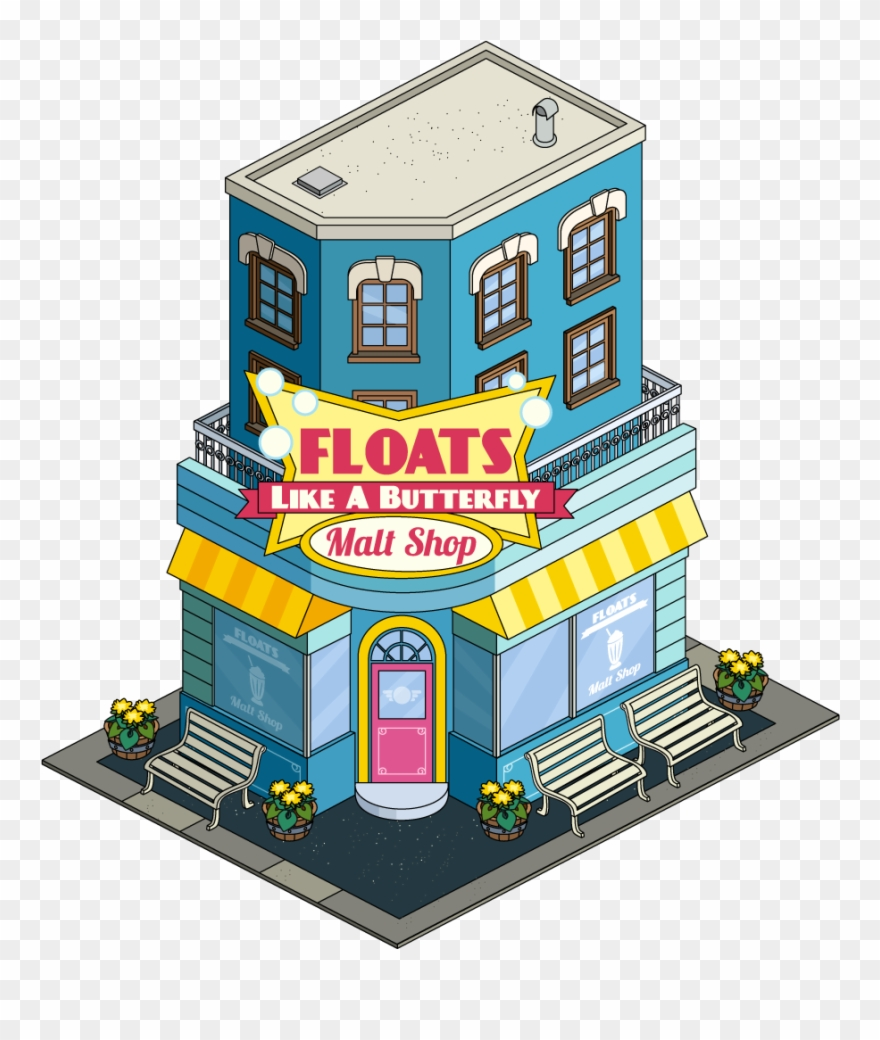 Float Like A Butterfly Malt Shop Clipart (#2267956).
