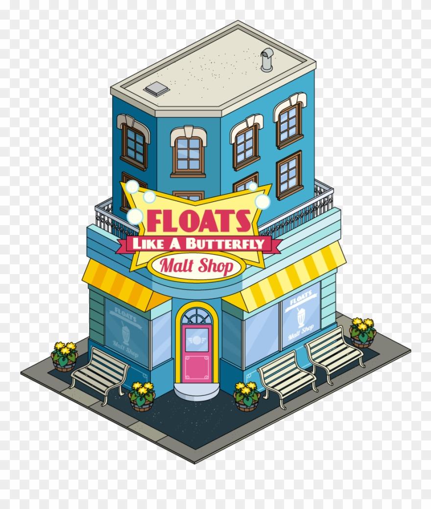 Float Like A Butterfly Malt Shop Clipart (#2267956).