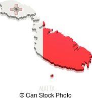 Malta vector map Vector Clipart Illustrations. 210 Malta vector.