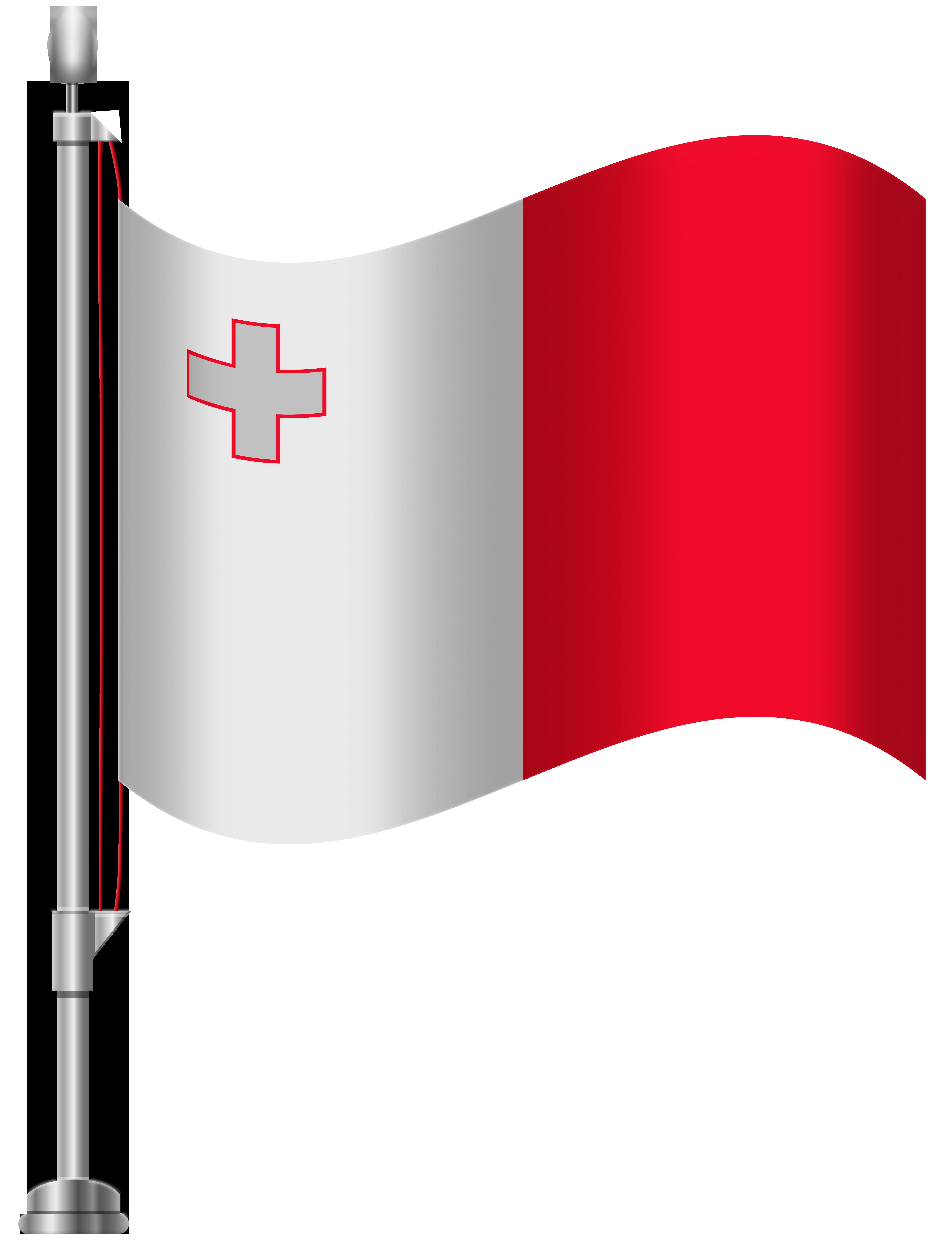 Malta Flag PNG Clip Art.