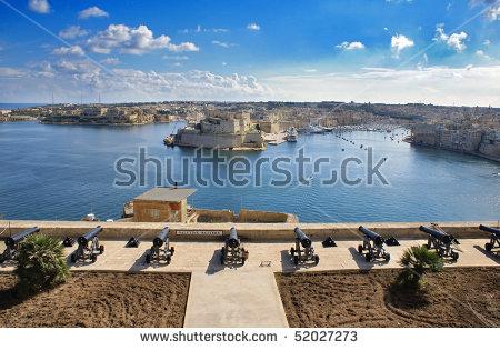 Malta Harbour Stock Photos, Royalty.