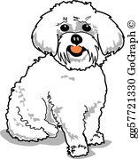 Maltese Dog Clip Art.