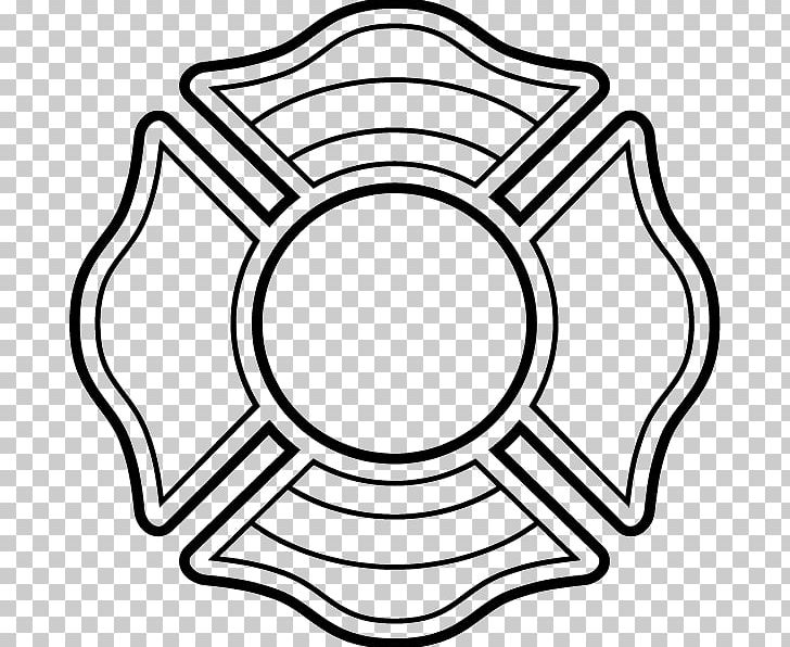 Maltese Cross Firefighter PNG, Clipart, Area, Badge, Black.