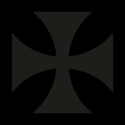 Maltese Cross vector logo download free.