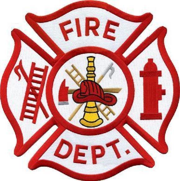 Maltese Cross Generic Fire Department Shoulder Patch Emblem 3.5 inch.