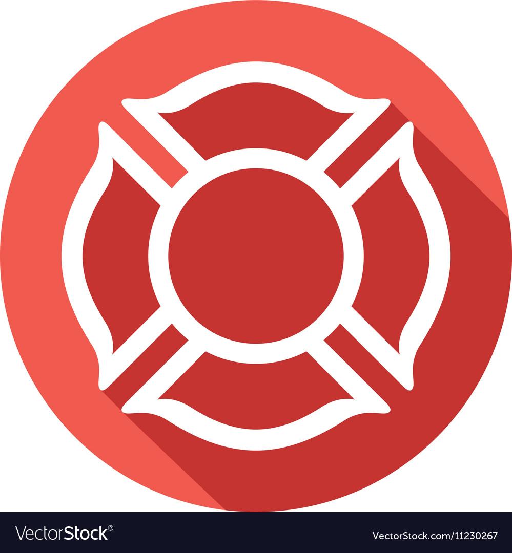 Fire Fighters Maltese Cross Symbol Icon.