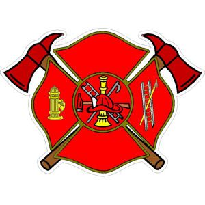 Firefighter Maltese Cross with Axes.