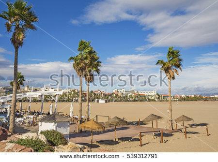 Valencia Beach Stock Images, Royalty.