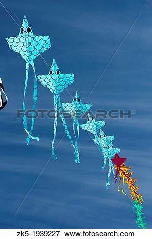 Picture of Multiple kite festival, beach Malvarrosa, Valencia.