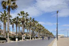 Malvarrosa Beach At Valencia. Spain Editorial Image.
