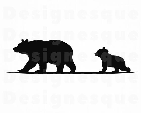 Mama Bear SVG, Bear SVG, Baby Bear SVG, Mama Bear Clipart, Mama Bear Files  for Cricut, Mama Bear Cut Files For Silhouette, Dxf, Png, Vector.