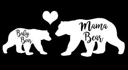 Amazon.com: Mama Bear and Baby Bear Decal Vinyl Sticker.