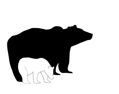Free Mama And Baby Bear Outline, Download Free Clip Art.
