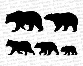 Mama bear clipart black and white » Clipart Portal.