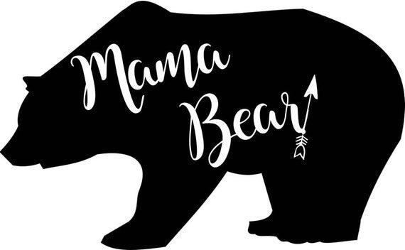 Mama Bear PNG JPEG.