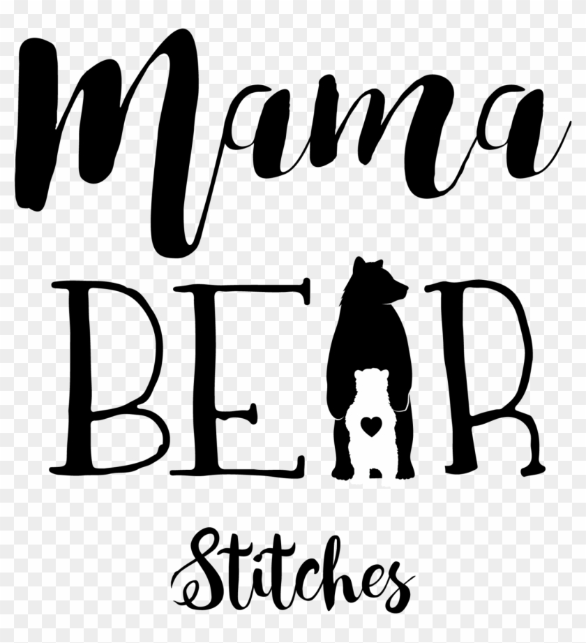 Mama Bear Png With Transparent Background.