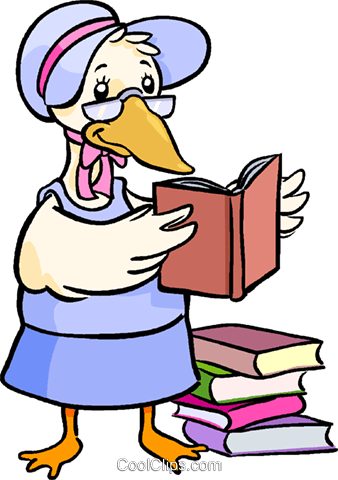 Clipart Mother Goose.