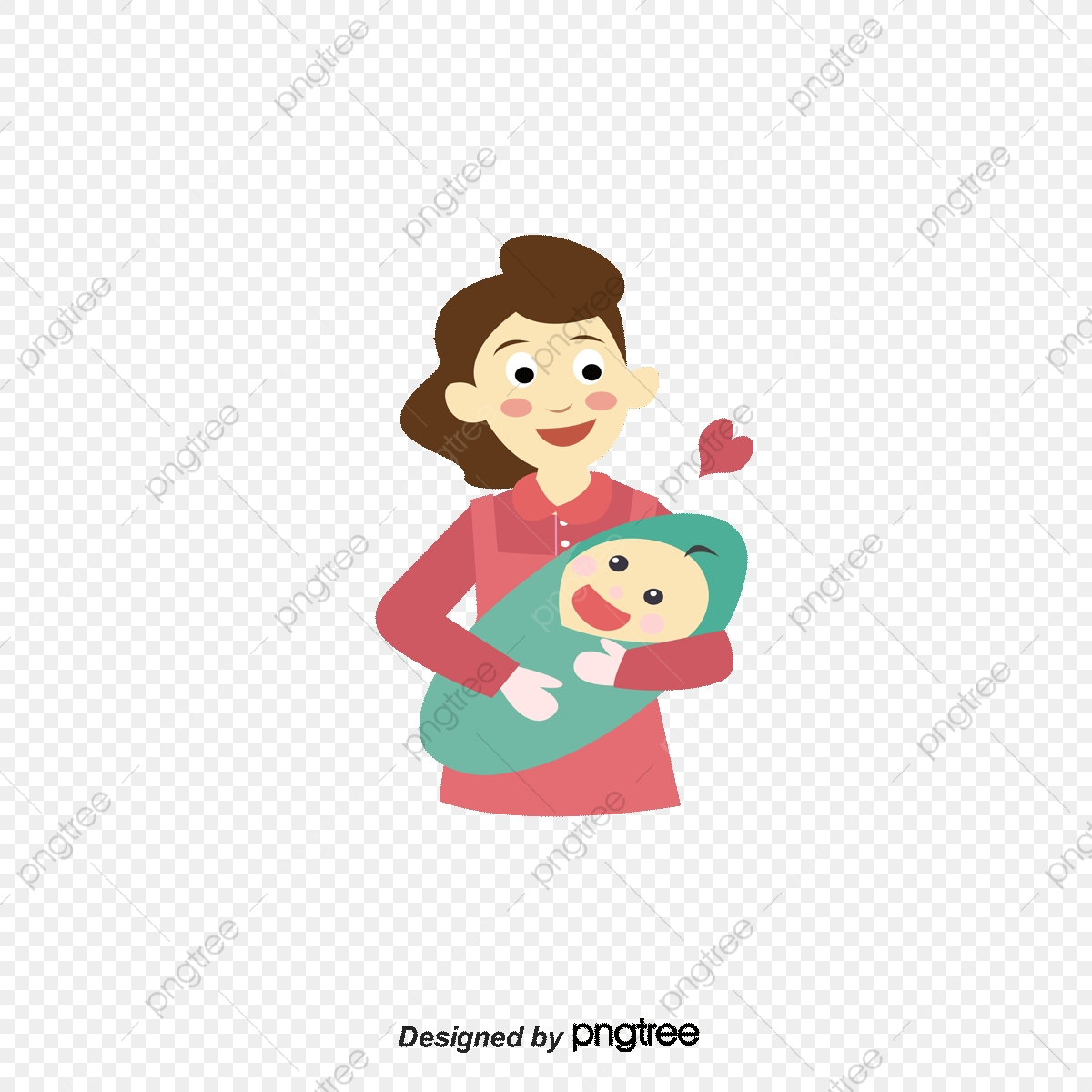 Baby Mama, Mom Baby, Warm, Maternal Love PNG and Vector with.