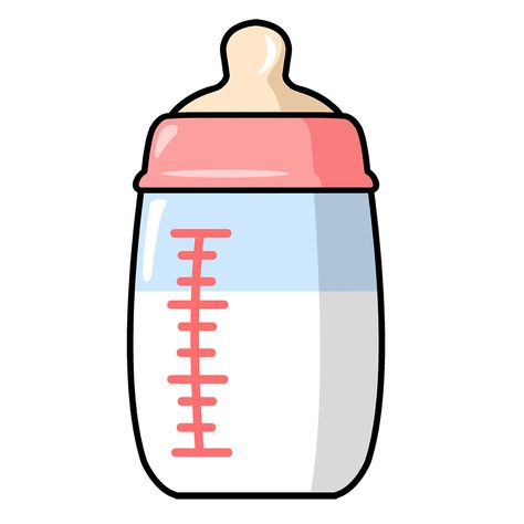 Baby bottle Scrapbooking clipart.
