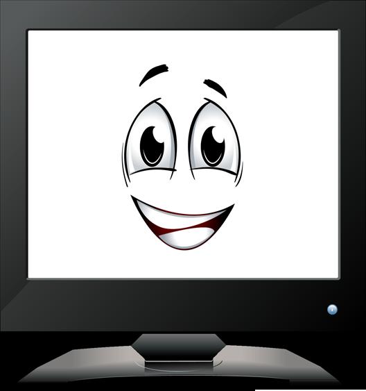 Happy Computer Clip Art.