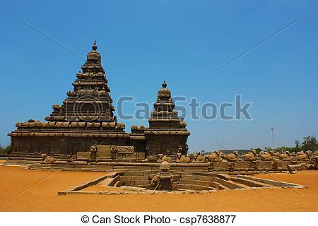 Picture of Mamallapuram, shore temple,India.