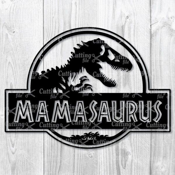 Mamasaurus SVG DXF PNG Cut Files.