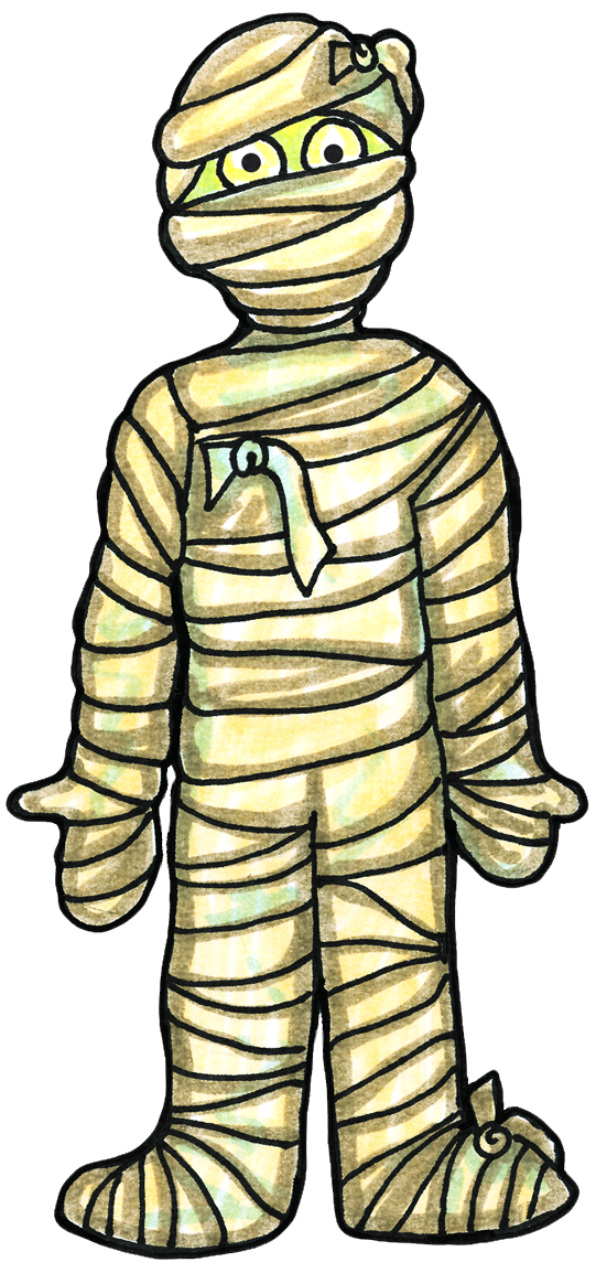 Cute halloween mummy clip art free clipart images image.
