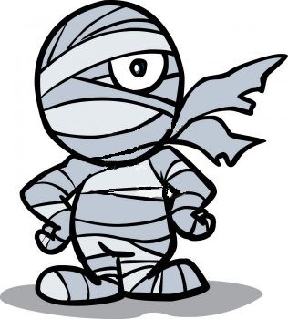 Mummy halloween clip art.