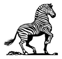 Zebra clip art free vector mammal.