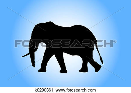 Clipart of mammals, art, elephant, drawing, black, nature, animal.