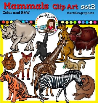 Mammals clip art set2.