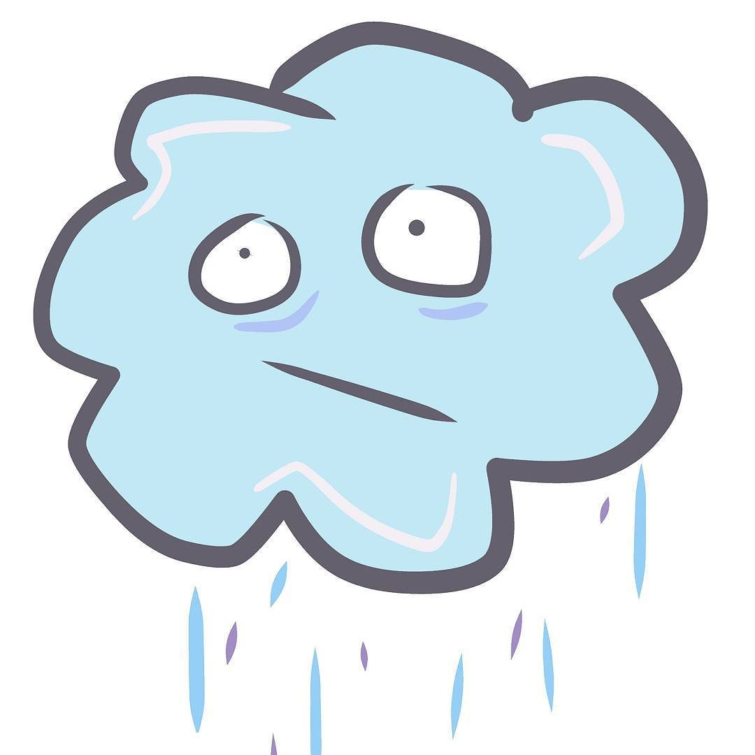 Don't be sad Mr Rain Cloud #art #weather #rain #illustration.