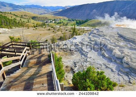 Mammoth Hot Springs Stock Photos, Royalty.