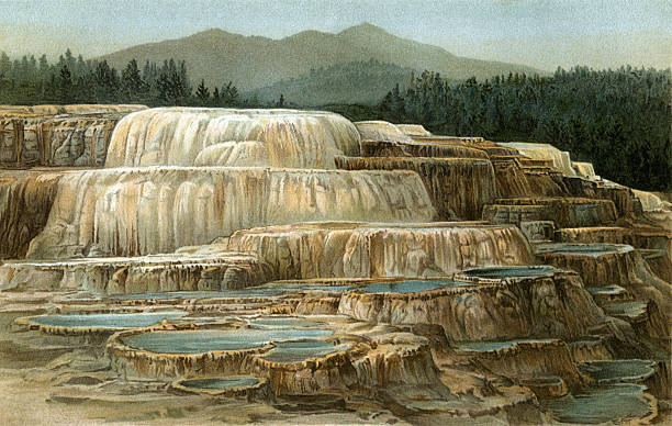 Mammoth Hot Springs Clip Art, Vector Images & Illustrations.