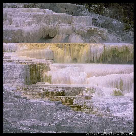 Waterfalls : mammoth.