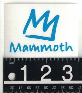 Details about MAMMOTH MOUNTAIN DECAL Mammoth Ski Snowboard 3.5 in x 2.5 in  Die.