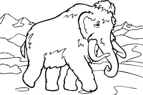 Mammoth coloring pages.