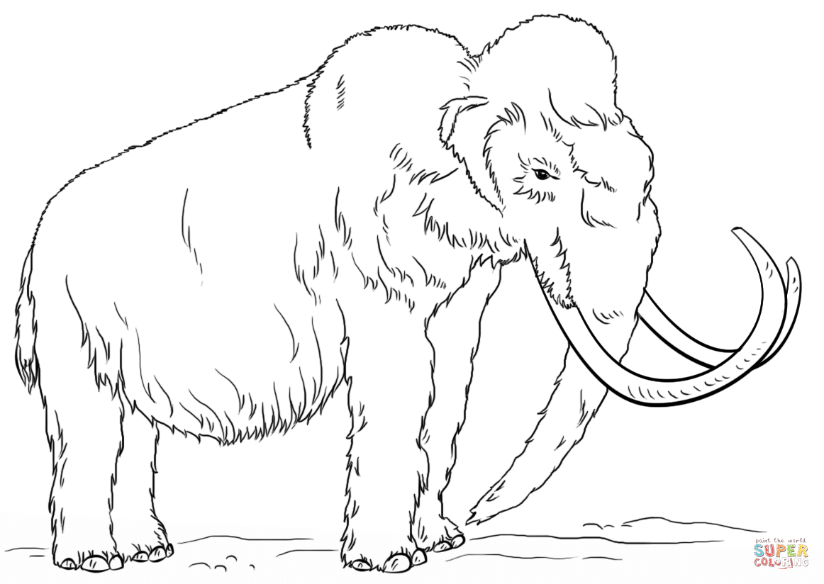 Woolly Mammoth coloring page.