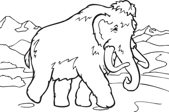 Wooly Mammoth Free vector in Open office drawing svg ( .svg.