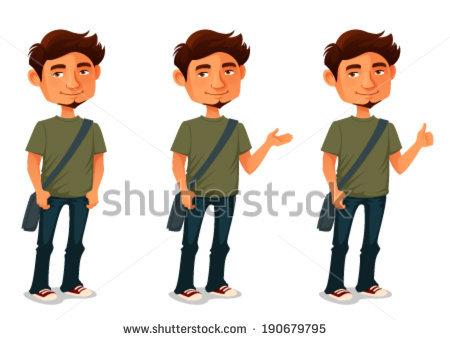 Man Posing Stock Vectors, Images & Vector Art.